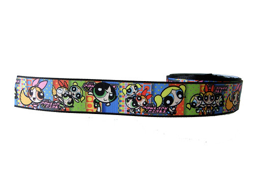 25mm Wide Power Puff Girls Martingale Collar