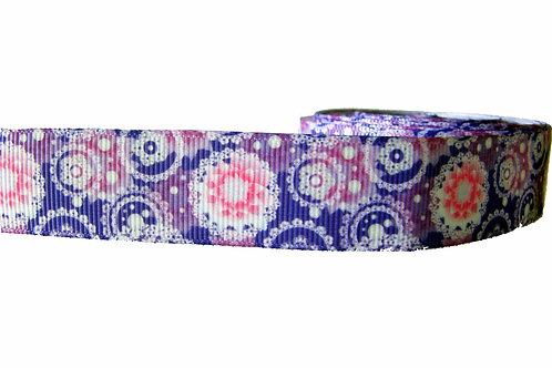 25mm Wide Purple Mendala Martingale Collar
