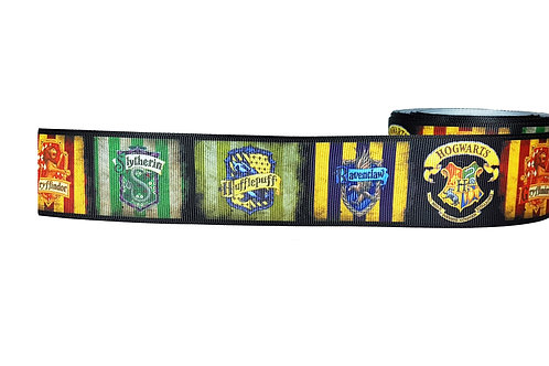 38mm Wide Harry Potter Houses Martingale Dog Collar