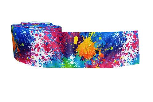 38mm Wide Paint Splatters Dog Collar