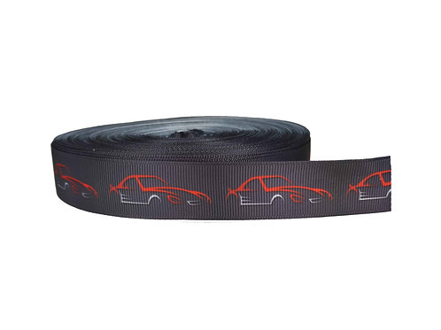 25mm Wide Racecar Dog Collar
