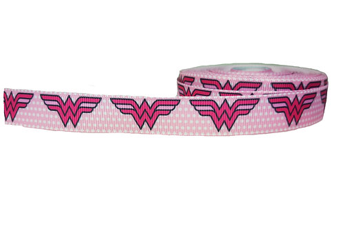 19mm Wide Wonder Woman (Pink) Martingale Collar