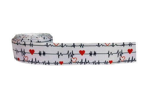 25mm Wide Heart Beat Dog Collar