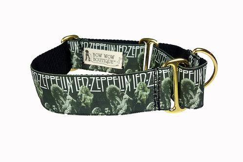38mm Wide Led Zeppelin Martingale Dog Collar