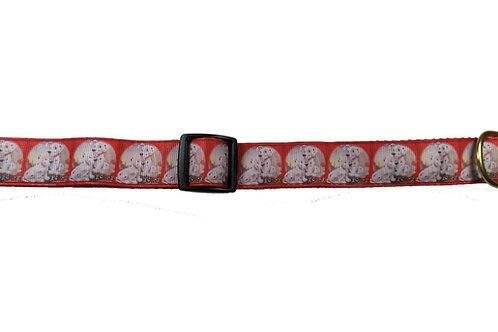 25mm Wide 101 Dalmatians Dog Collar