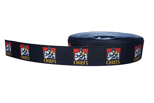 25mm Wide Chiefs Dog Collar