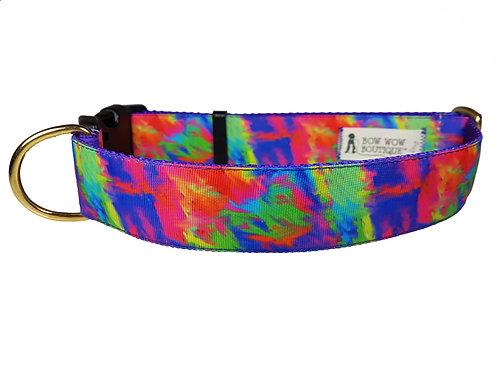 38mm Wide Tye Dye Dog Collar
