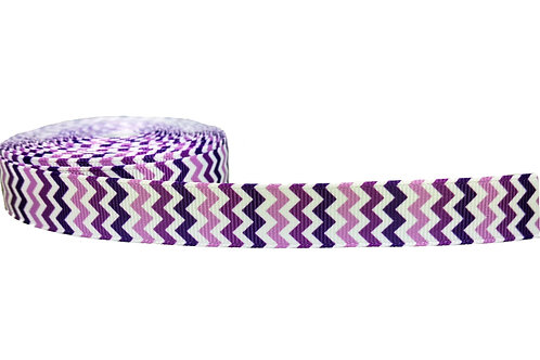 19mm Wide Purple Chevron Double Ended Lead