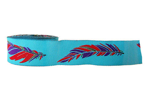 25mm Wide Purple & Red Feathers Dog Collar