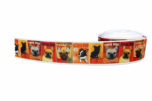 25mm Wide French Bulldog Posters Martingale Collar