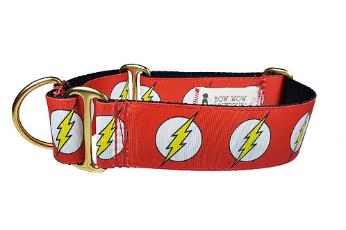 38mm Wide The Flash Martingale Dog Collar