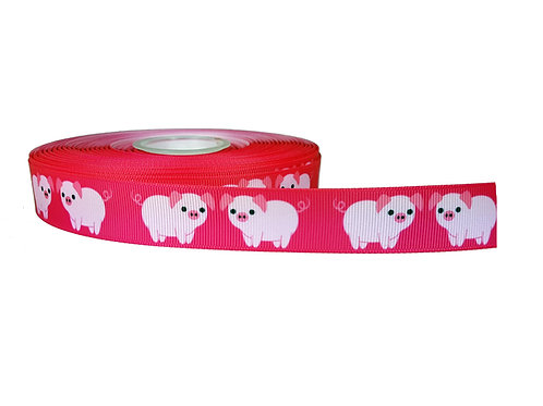 25mm Wide Pink Piggys Martingale Collar