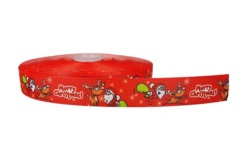25mm Wide Merry Christmas Double Ended Lead
