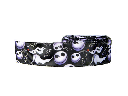 25mm Wide Jack Skellington Double Ended Lead