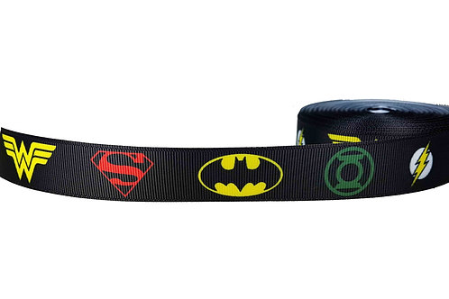 25mm Wide Justice League Martingale Collar