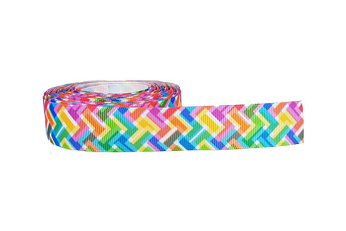 25mm Wide Colourful Zig Zag Martingale Collar