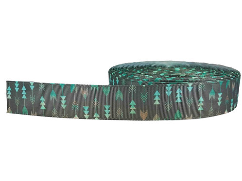 25mm Wide Mint Arrows on Grey Martingale Collar