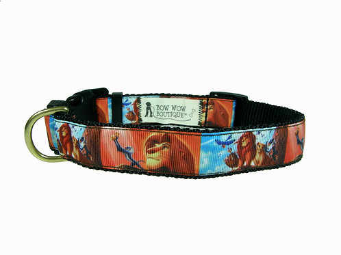 25mm Wide Lion King Dog Collar