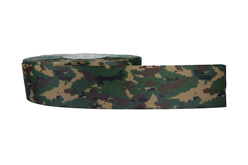 38mm Wide Green Camo Martingale Collar