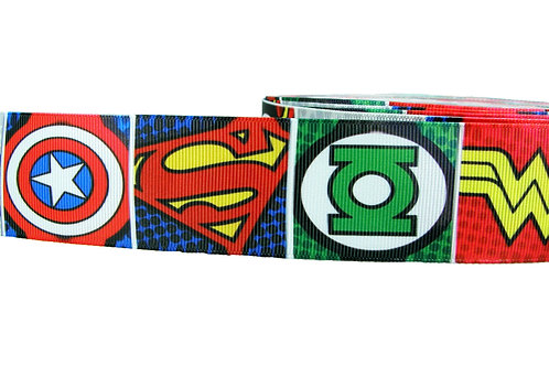 38mm Wide Super Hero Icons Martingale Collar