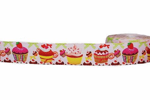 25mm Wide Cupcakes Dog Collar