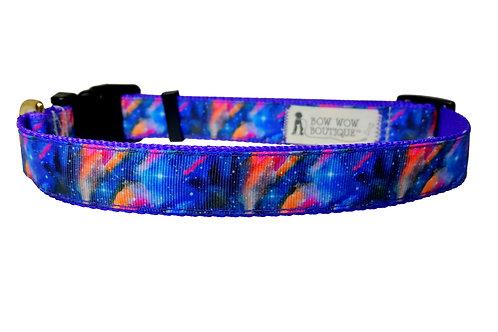 25mm Wide Stella Galaxy Dog Collar