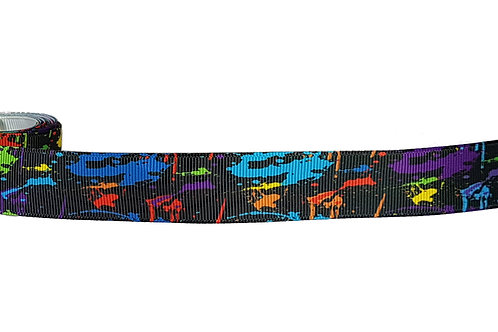 25mm Wide Multi Coloured Paint Dog Collar