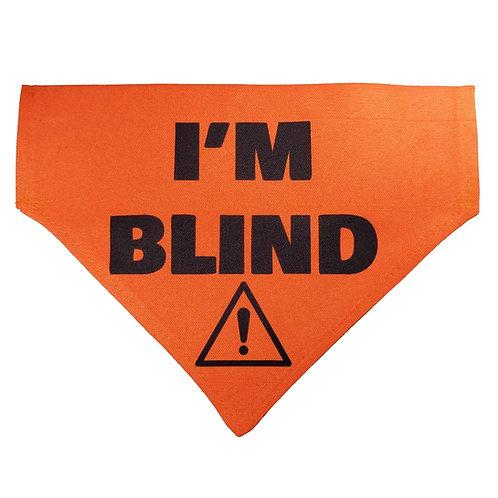 Large I'M BLIND Bandana