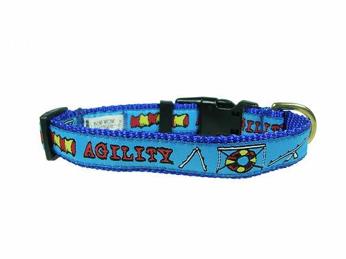 19mm Wide Blue Agility Collar