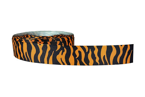 25mm Wide Orange Tiger Stripes Martingale Collar