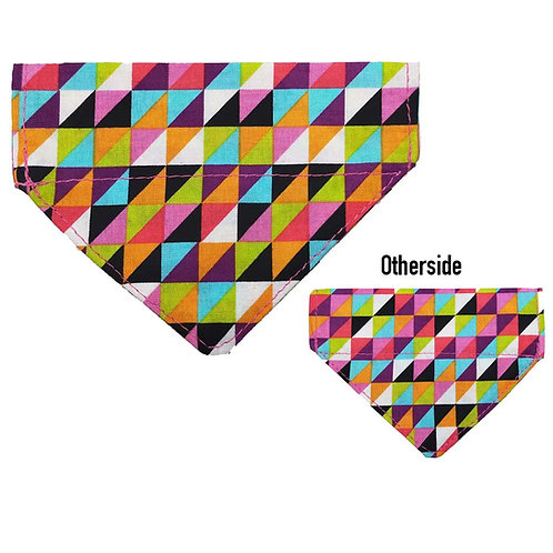 Small Multi Coloured Triangles Bandana