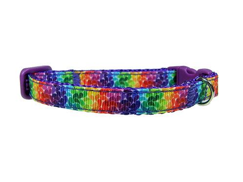 Rainbow Petals Cat Collar