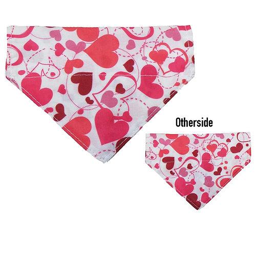 Small Pink Hearts Bandana