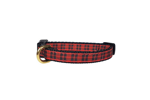 12.7mm Wide Red Tartan Collar