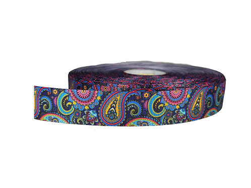 25mm Wide Midnight Paisley Double Ended Lead
