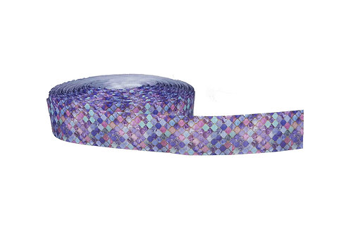25mm Wide Purple & Gold Mosaic Dog Collar