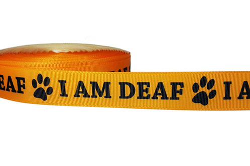 25mm Wide I Am Deaf Martingale Collar