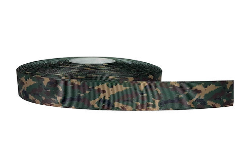 25mm Wide Green Camo Martingale Collar