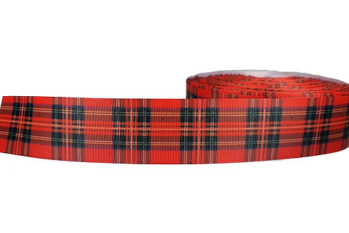 38mm Wide Red Plaid Martingale Collar