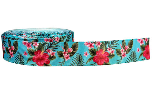 25mm Wide Frangipani & Hibiscus Double Ended Lead