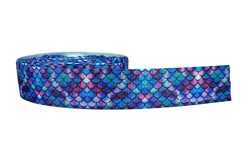 25mm Wide Purple Mermaid Martingale Collar