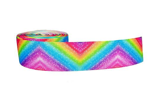 38mm Wide Rainbow Zig Zag Martingale Collar