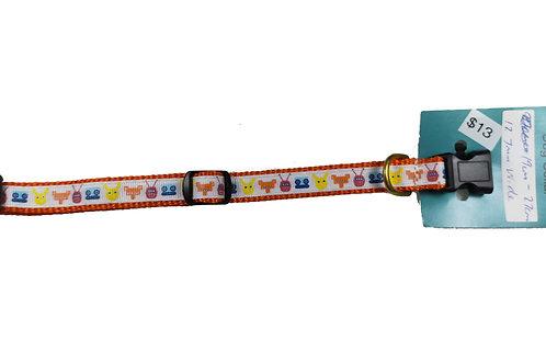 12.7mm Wide Robots Dog Collar