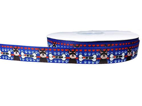 19mm Wide Schnauzer Love Martingale Collar