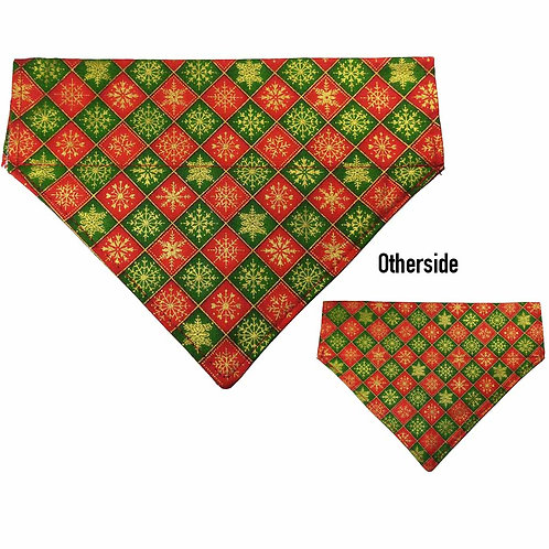 Medium Gold Snowflakes Bandana