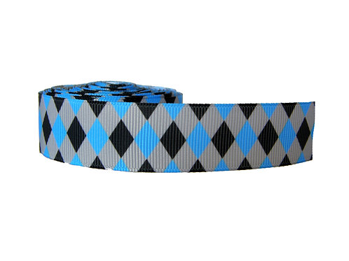 25mm Wide Blue Diamonds Double Ended Lead