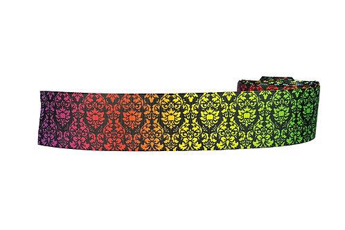 38mm Wide Rainbow Regal Martingale Dog Collar