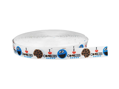 19mm Wide I Love Cookies Collar