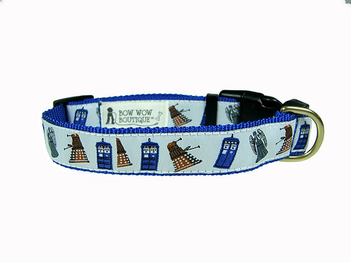 25mm Wide Dr Who Dog Collar