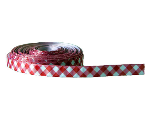 12.7mm Wide Red Check Double Ended Lead